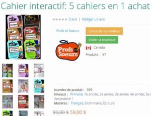Cahier interactif: 5 cahiers en 1 achat