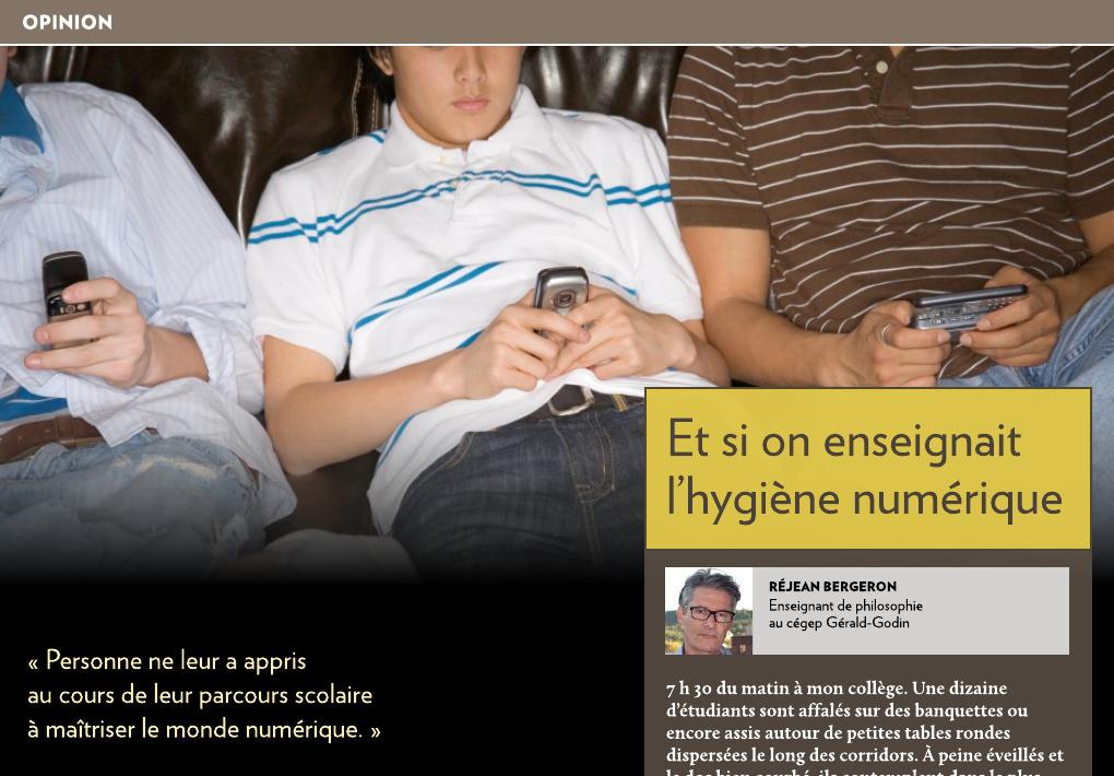 Et si on enseignait l'hygiène numérique